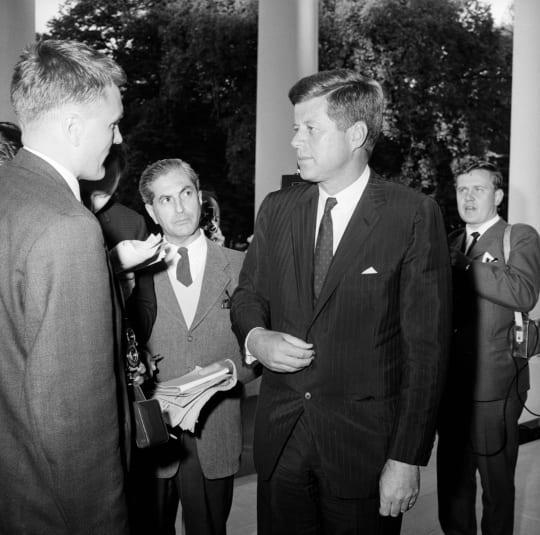 John F. Kennedy vuonna 1961. Lehtikuva.