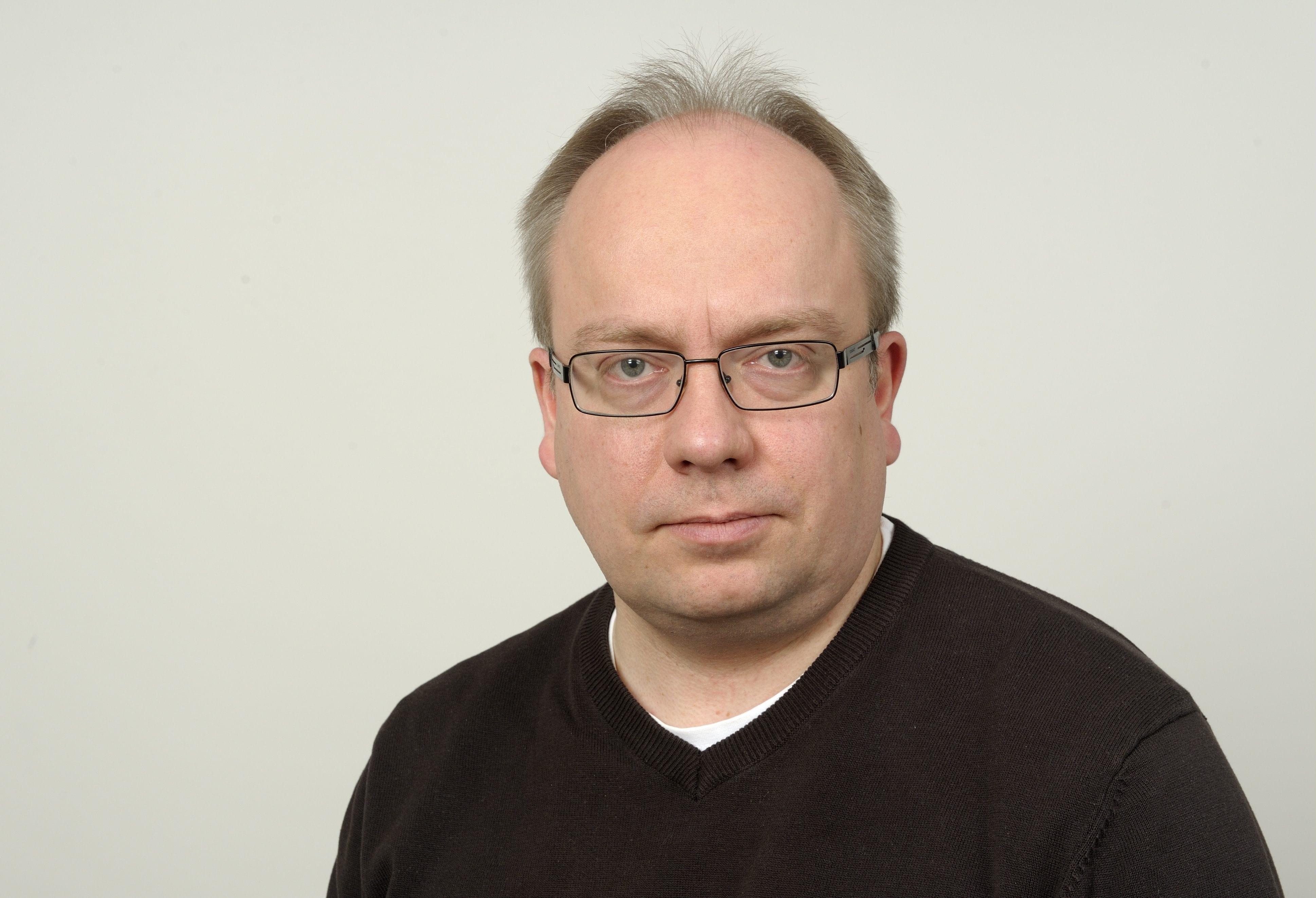 STT-Lehtikuvan toimittaja Janne Linnovaara Helsingissä 10. tammikuuta 2013. LEHTIKUVA / PEKKA SAKKI