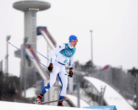 Maastohiihtäjä Iivo Niskanen hiihtää Pyeongchangin olympialaisissa.